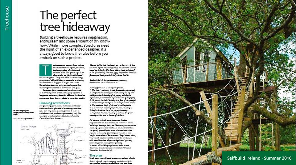 Forest Wild Treehouses in Self Build Magazine