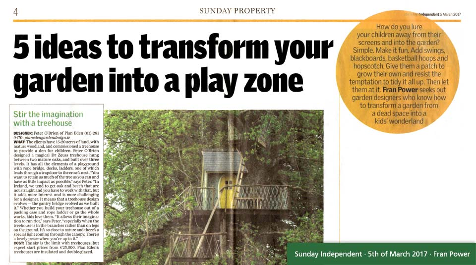 Forest Wild Treehouses in the Sunday Independent